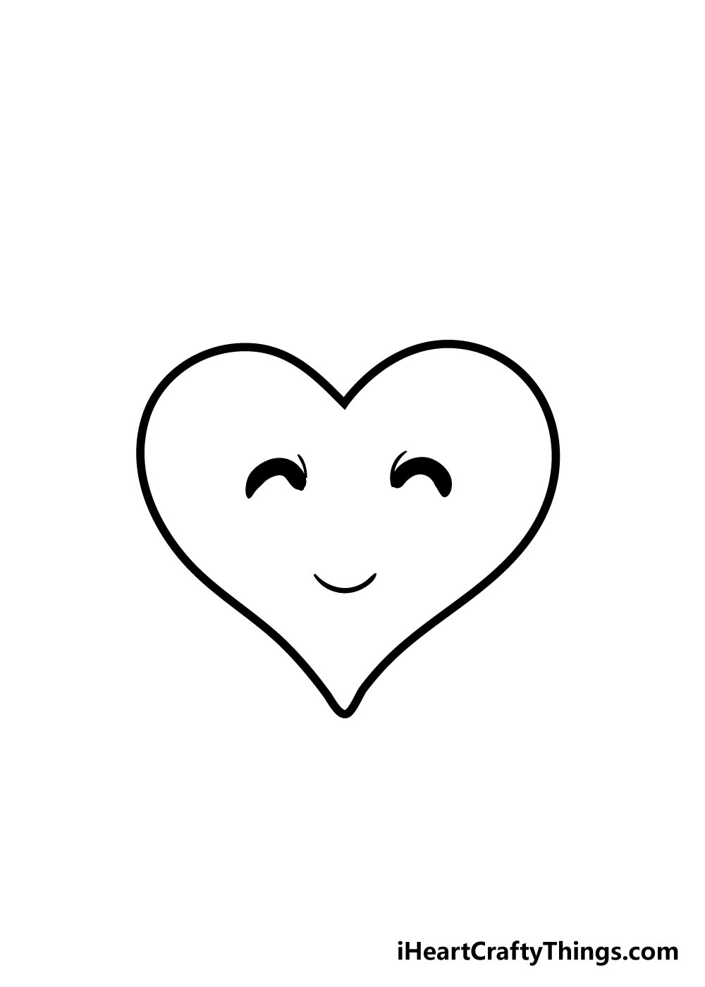 heart drawing step 6