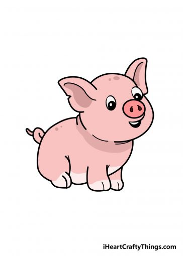 how to draw pig image