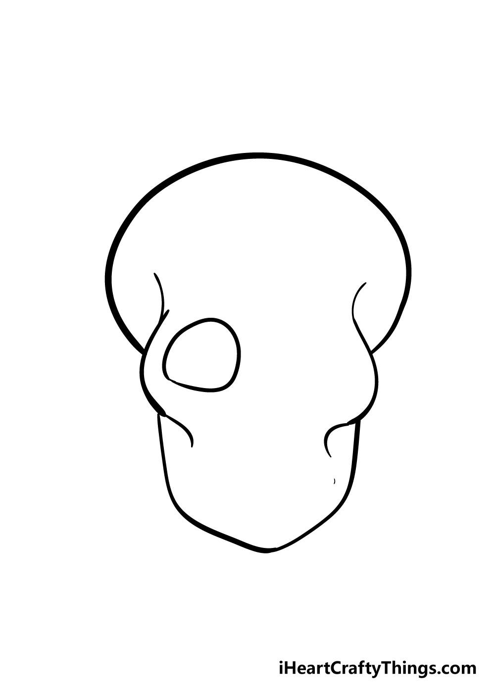 skull drawing step 5