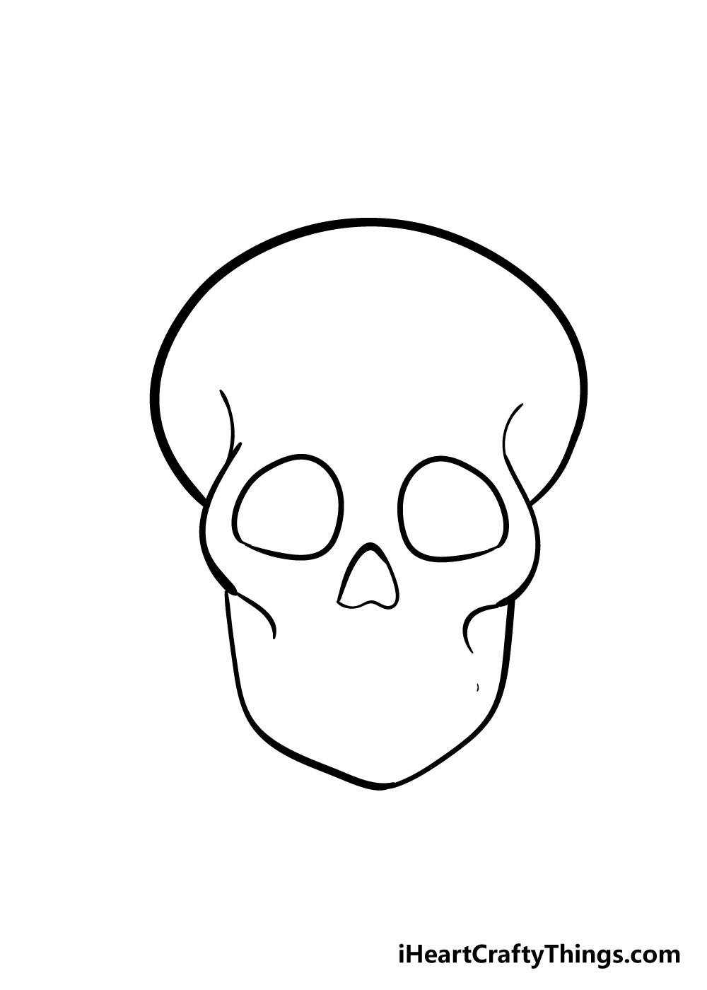 skull drawing step 6