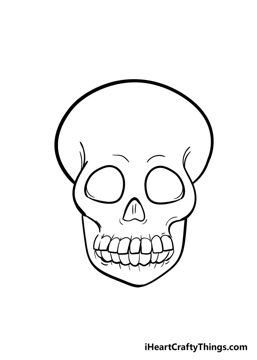 skull drawing step 7