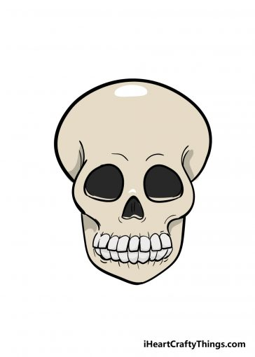 how to draw skull image