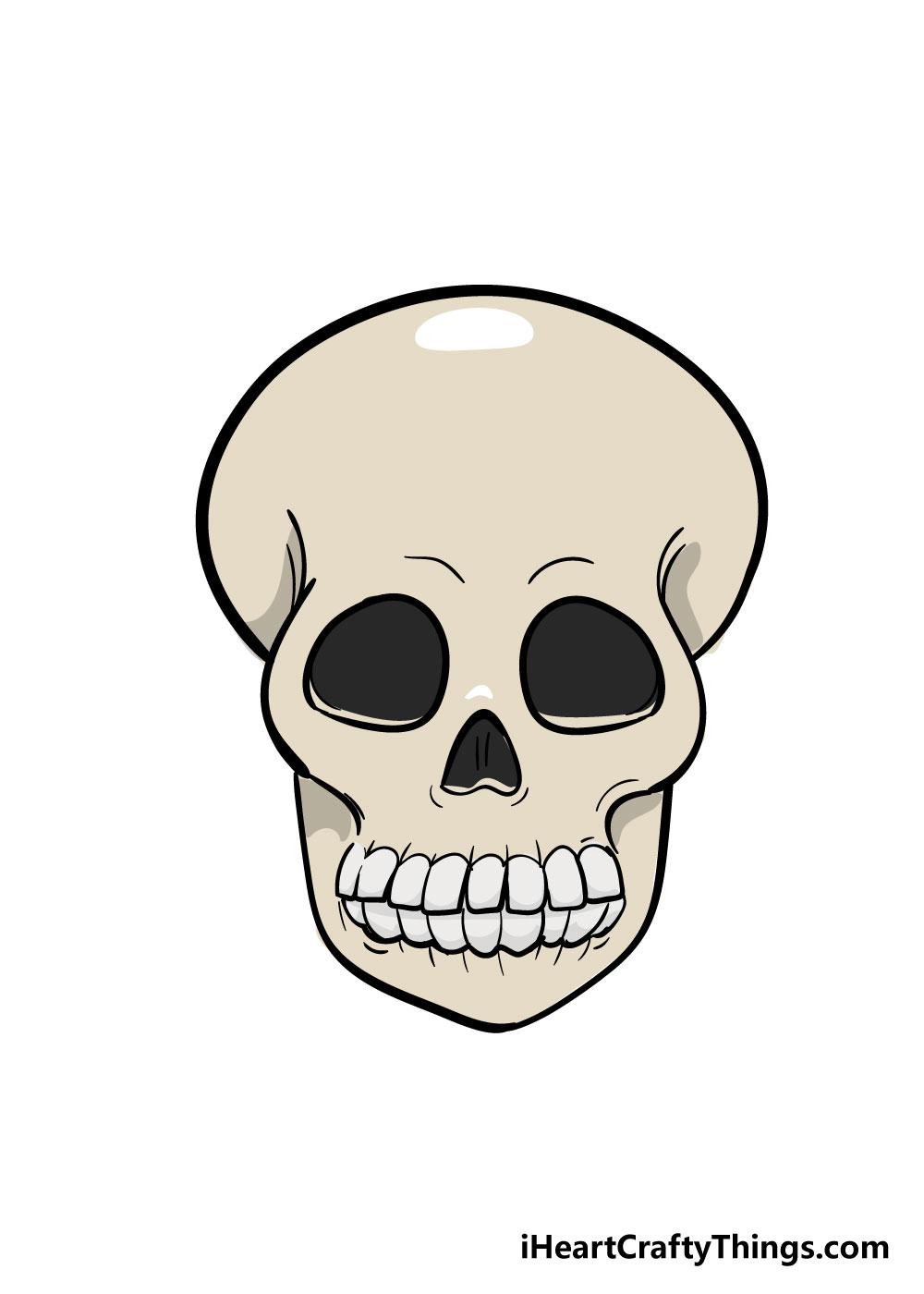 skull drawing image