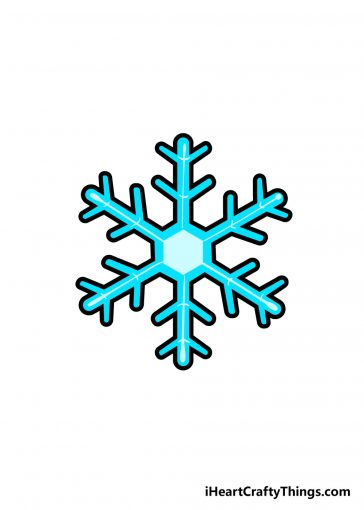 how to draw snowflake image