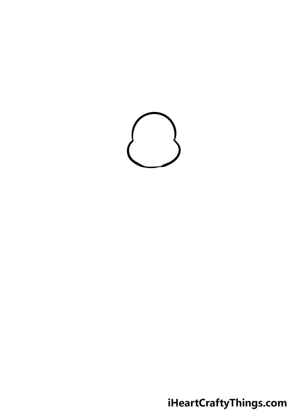 turkey drawing step 1