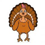 how to draw turkey image