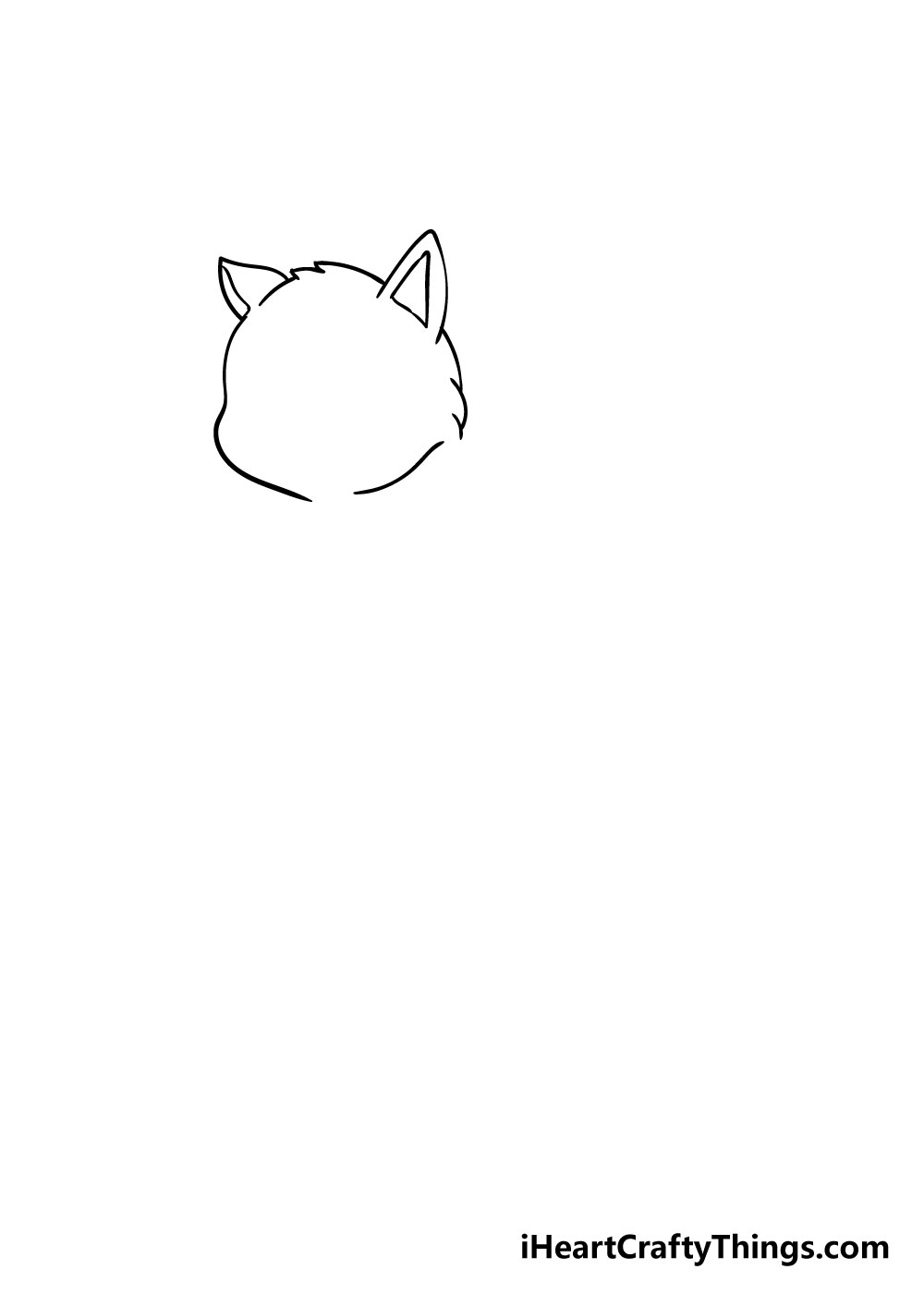cat drawing step 3