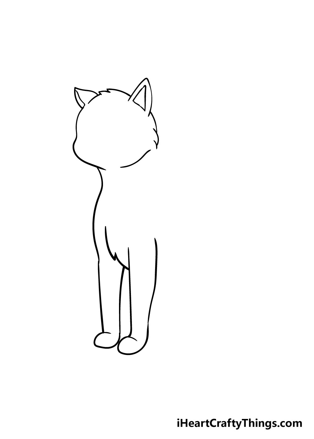 cat drawing step 5