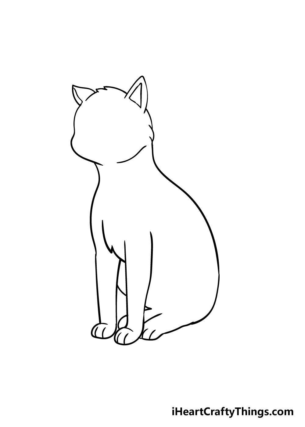 cat drawing step 6