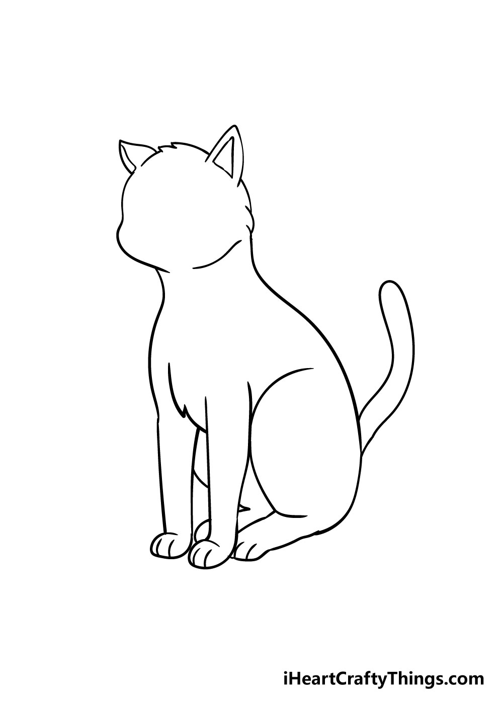 cat drawing step 7