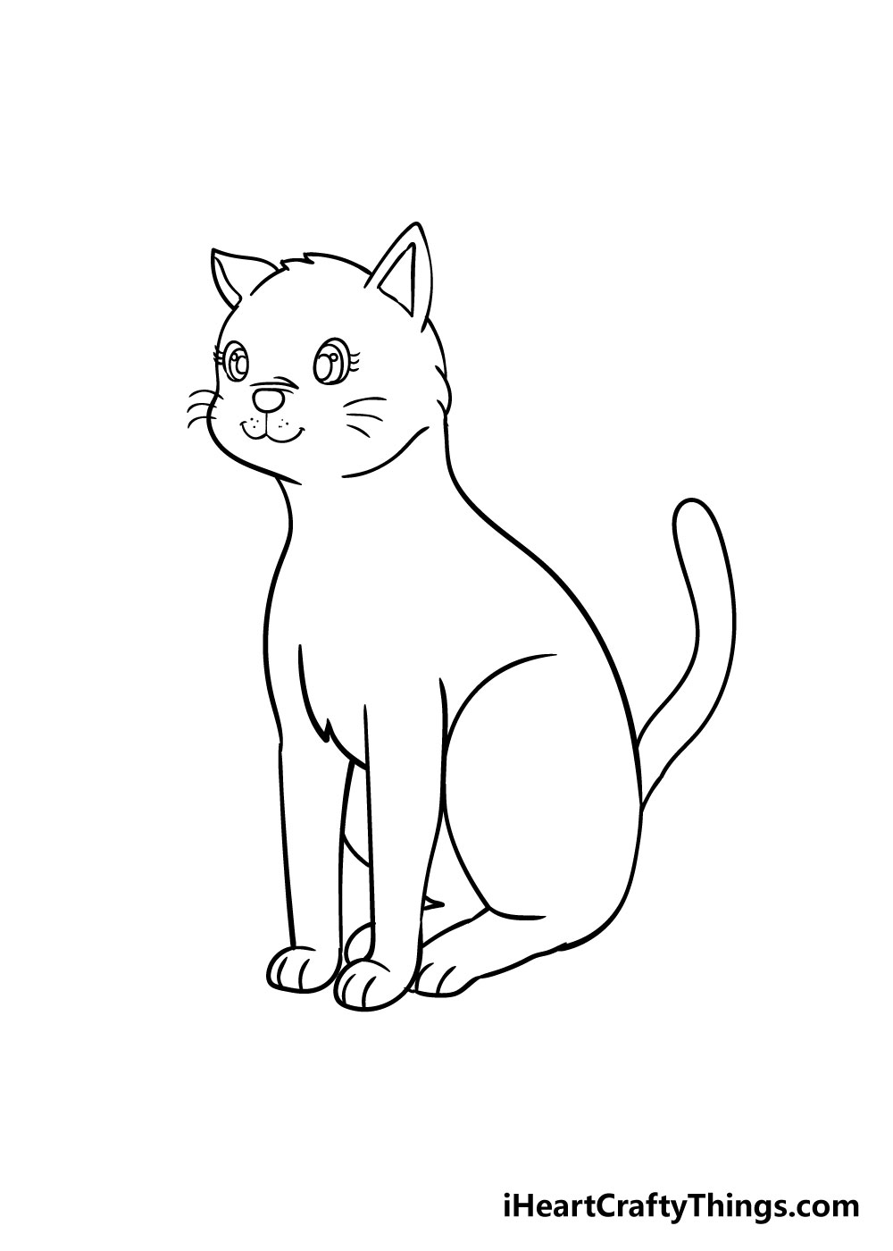 cat drawing step 8
