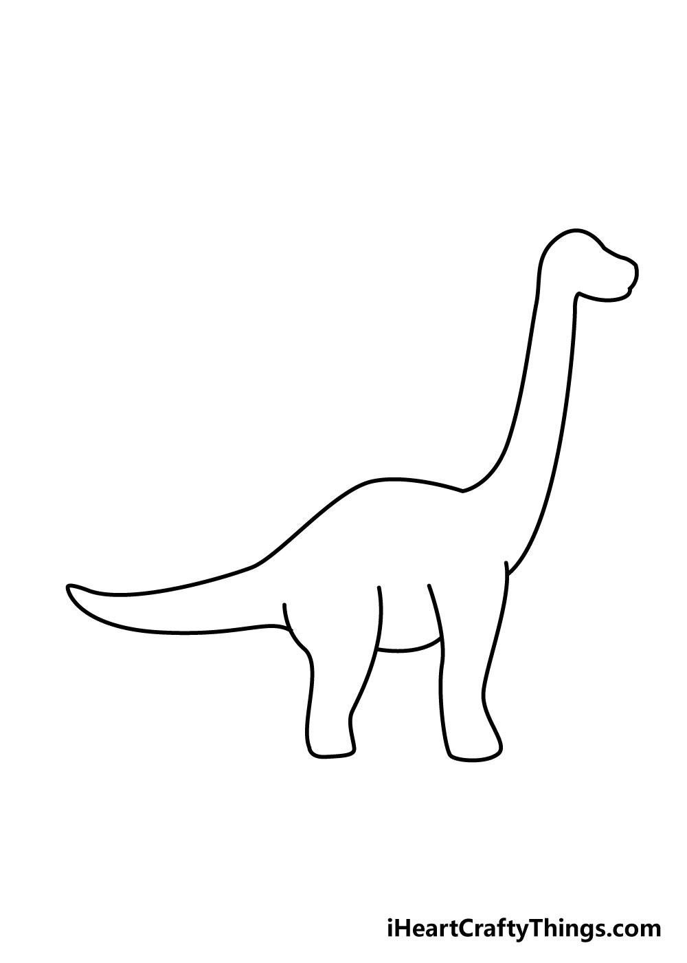 vẽ khủng long bước 5