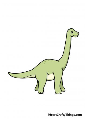 how to draw dinosaur image
