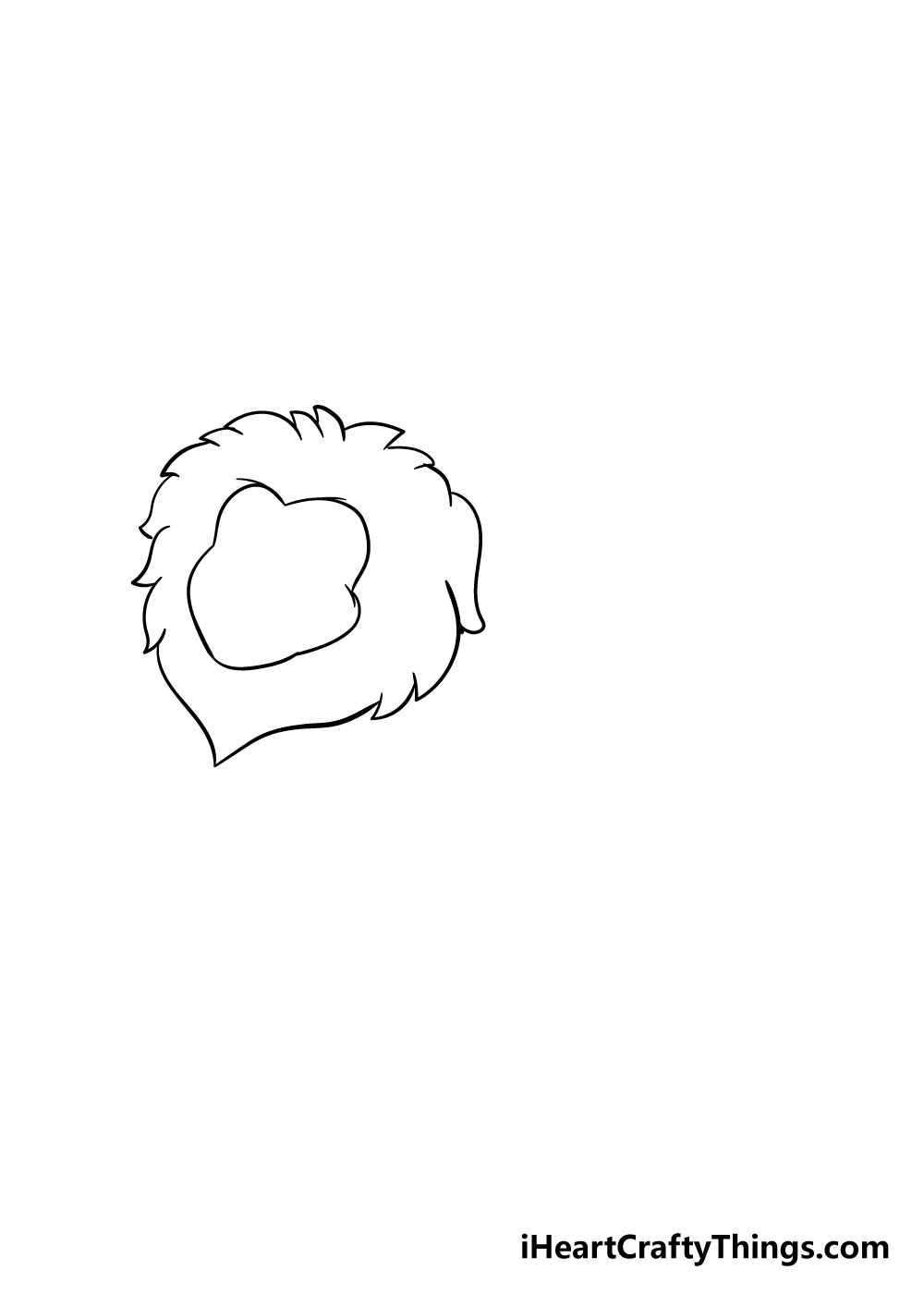 lion drawing step 2
