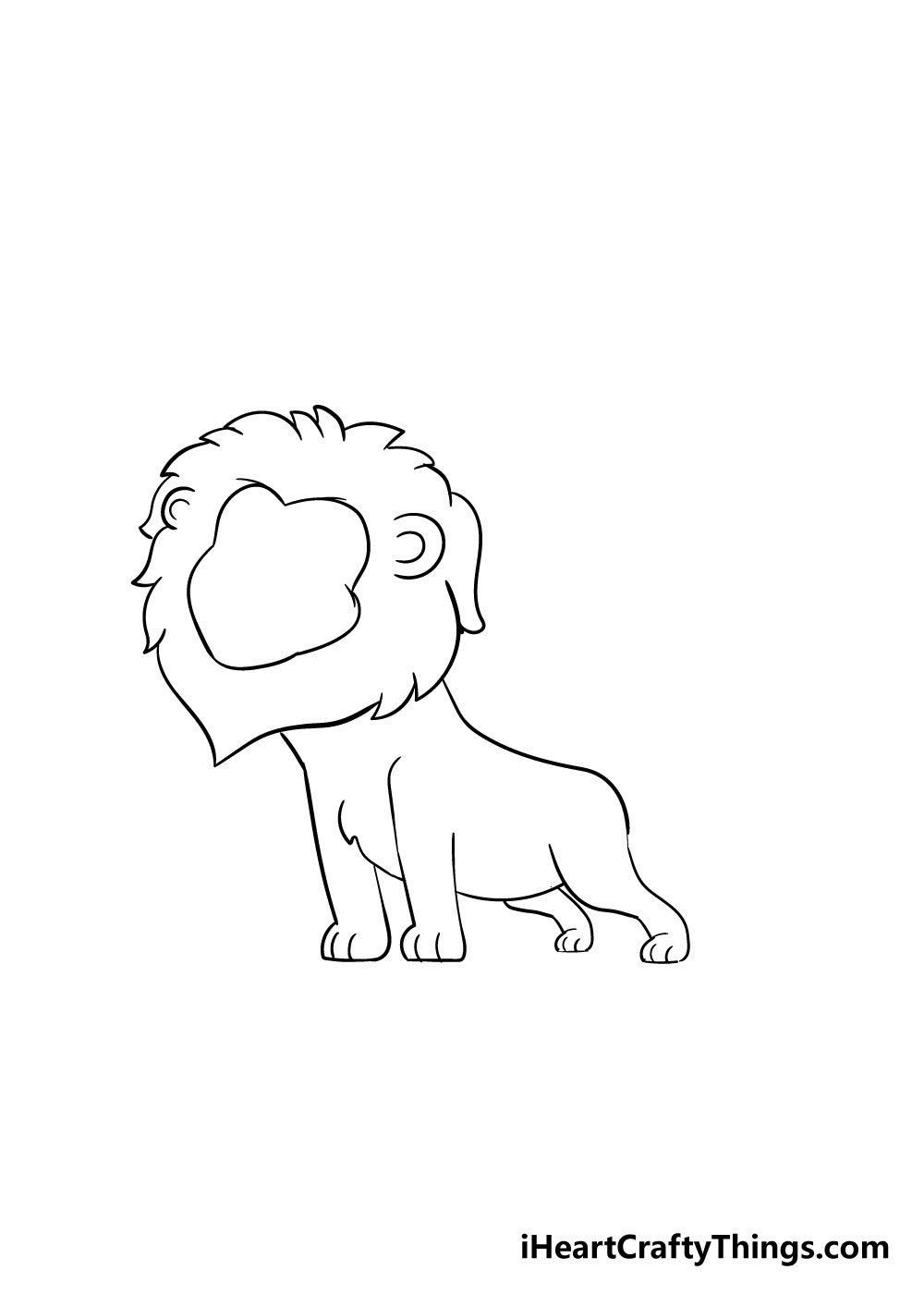 lion drawing step 5
