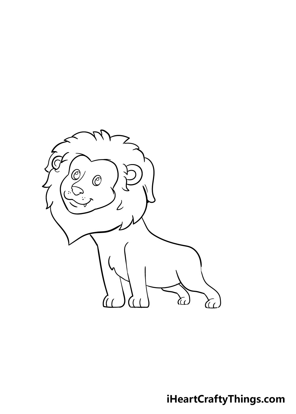 lion drawing step 6