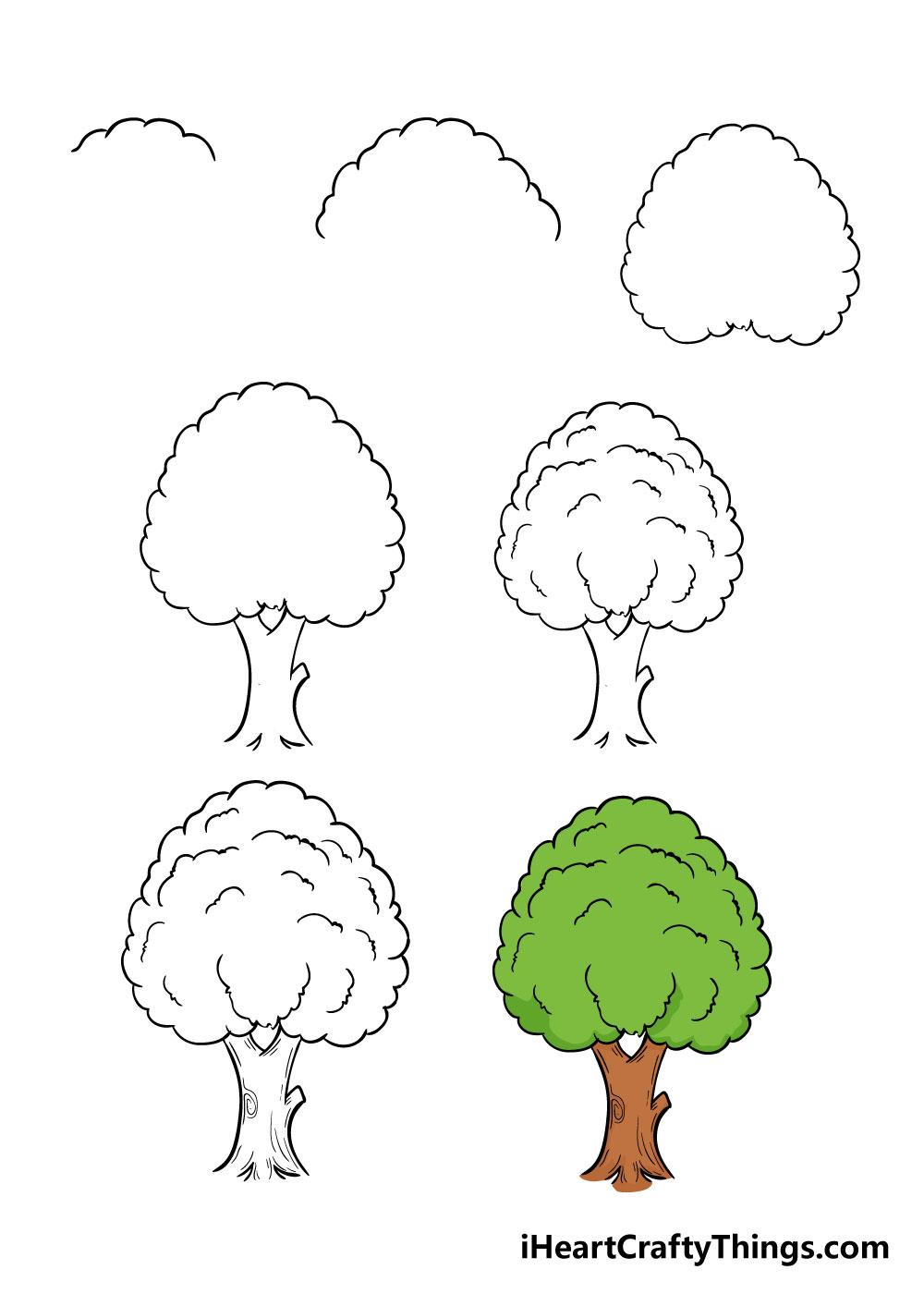 cách vẽ một cái cây trong 7 bước