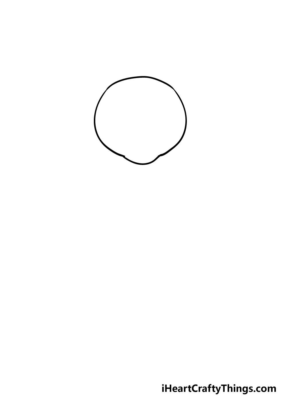bear drawing step 1