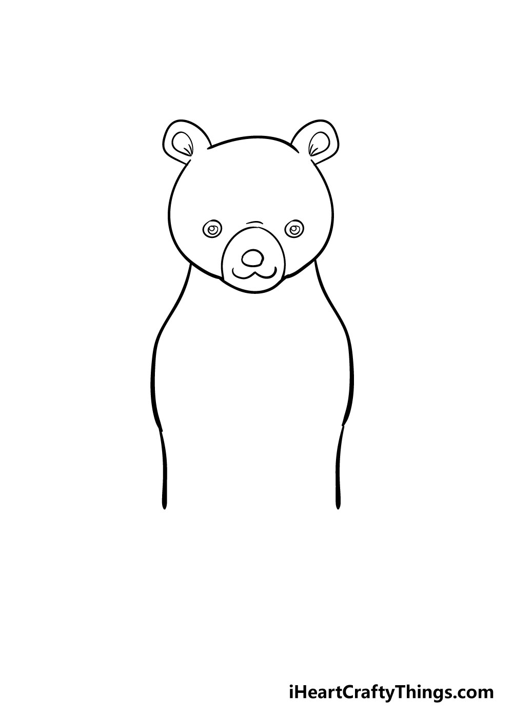 bear drawing step 4