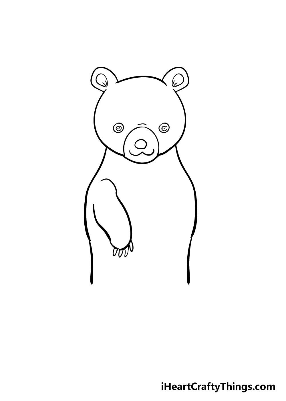 bear drawing step 5