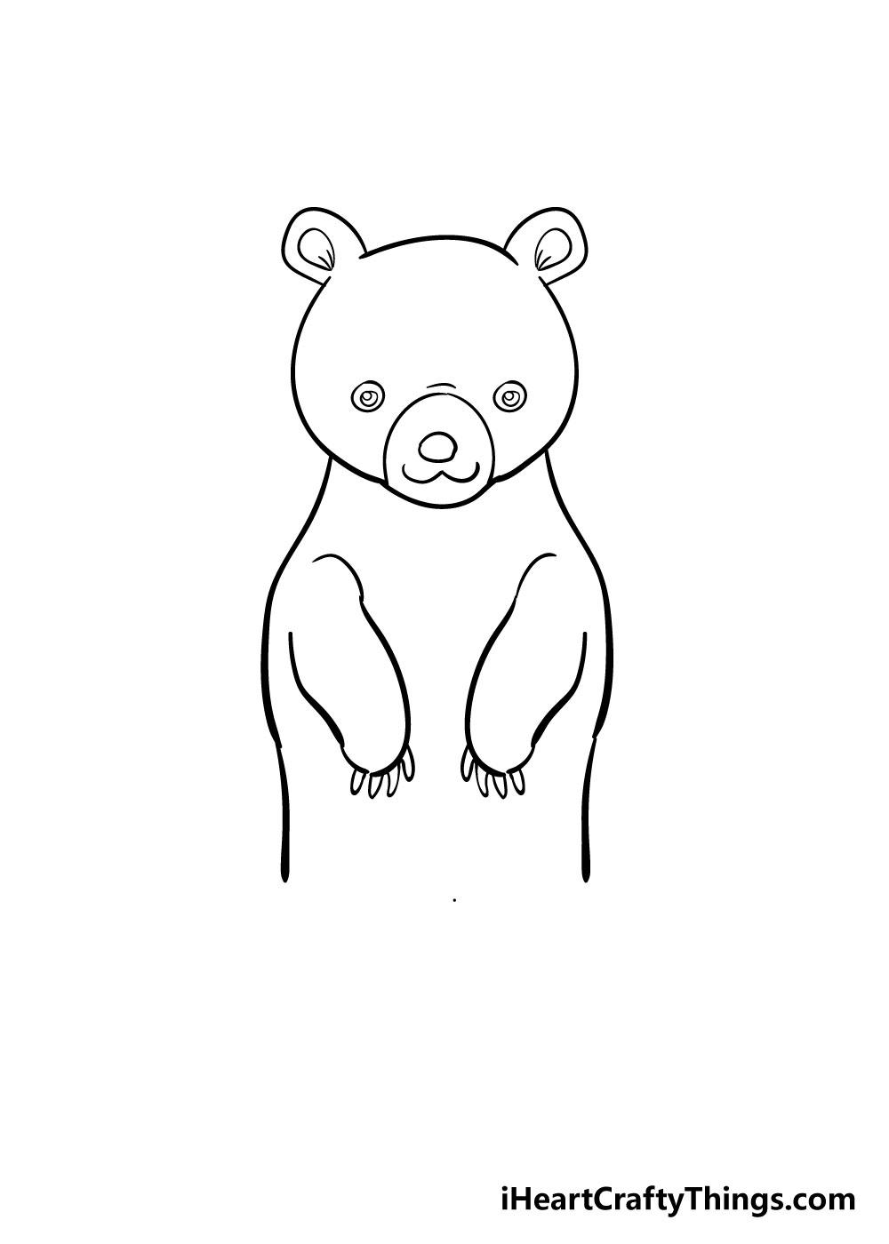 bear drawing step 6