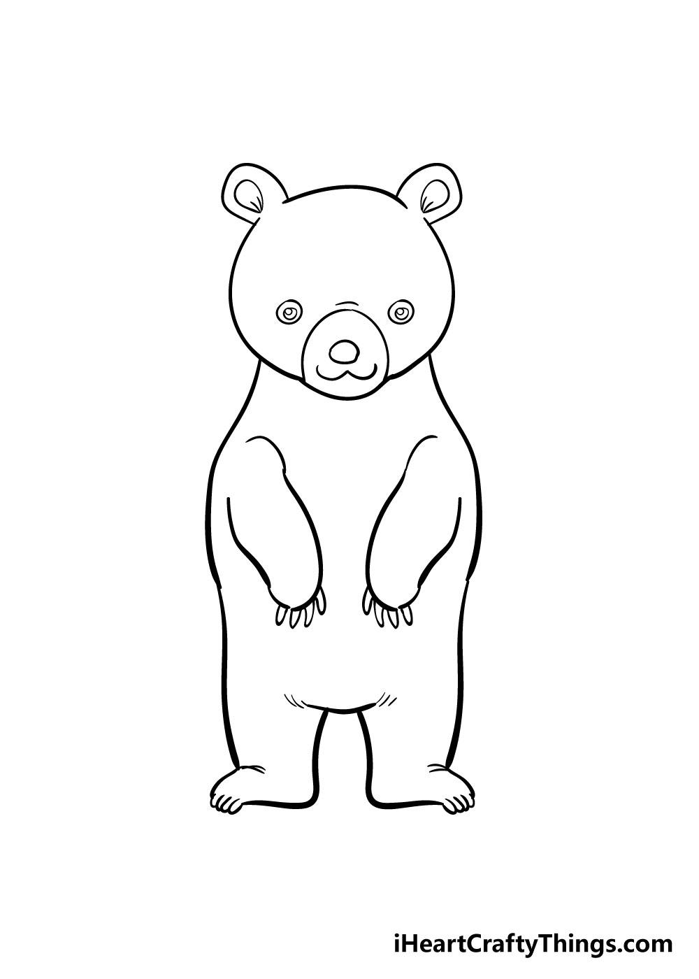 bear drawing step 7
