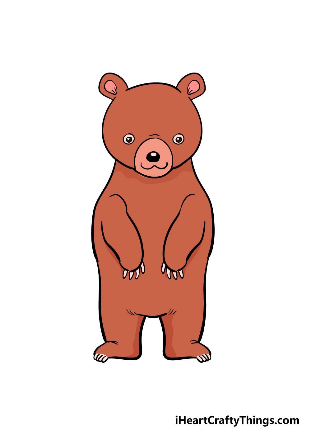 bear drawing step 8