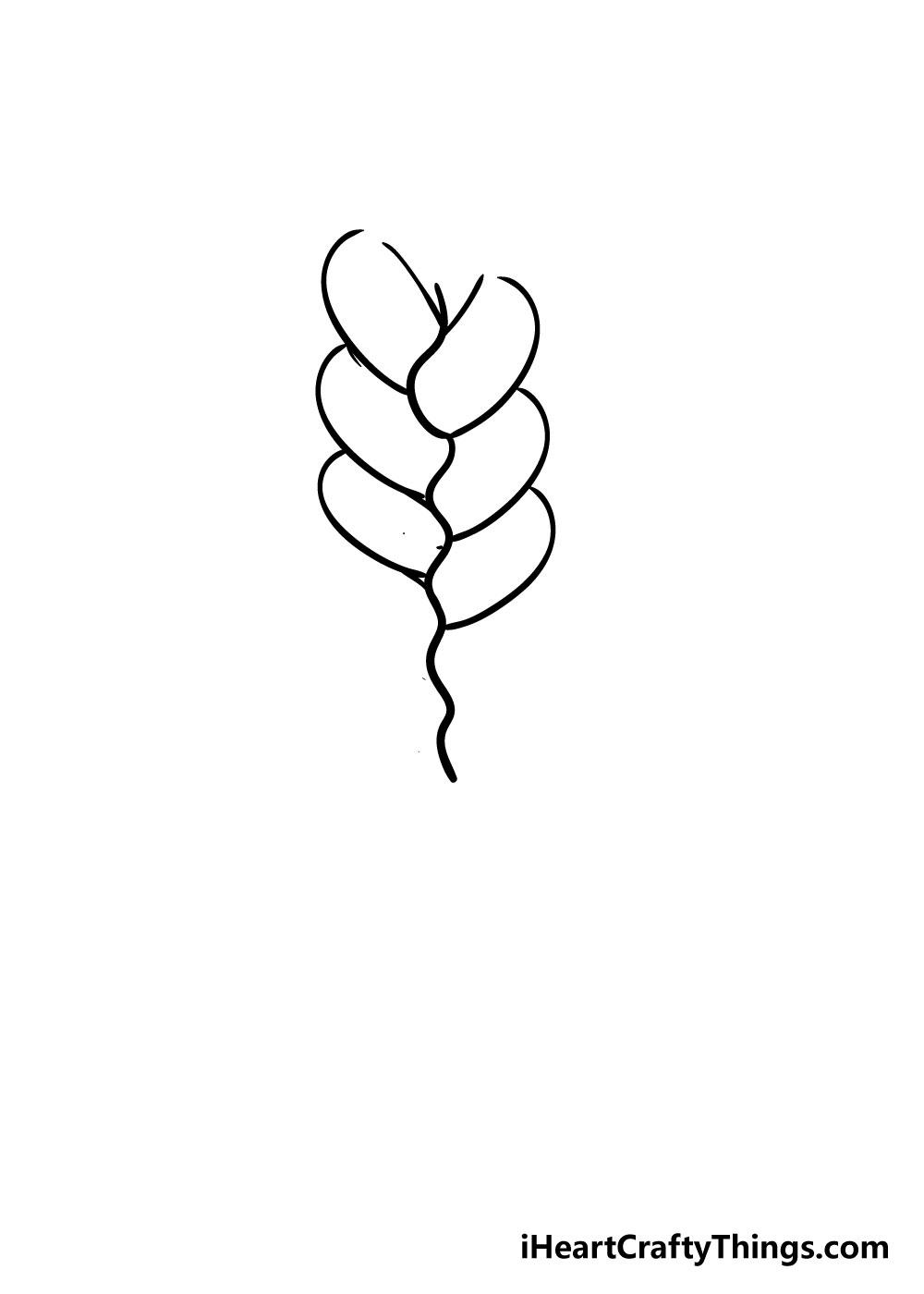 braid drawing step 3