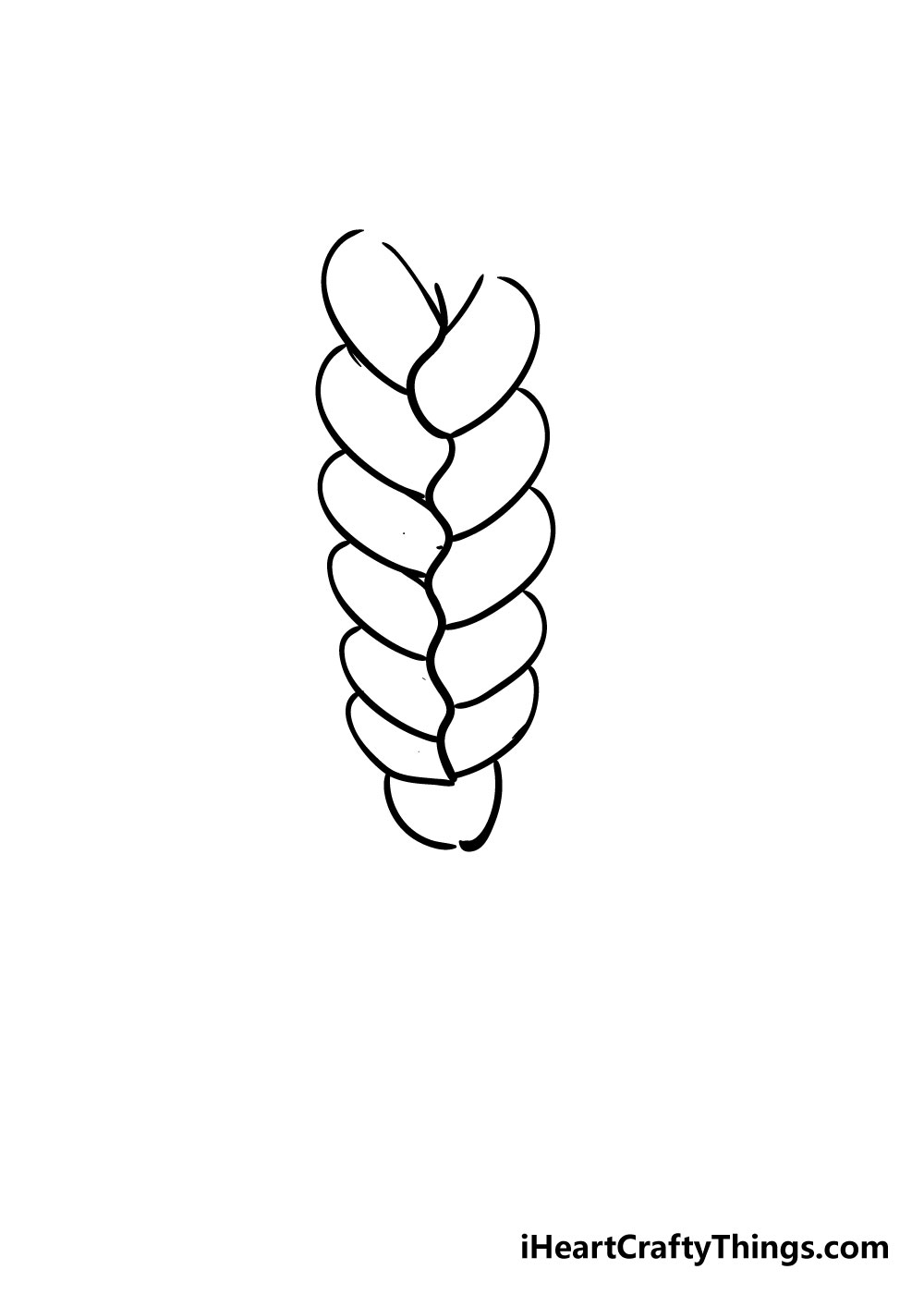 braid drawing step 5