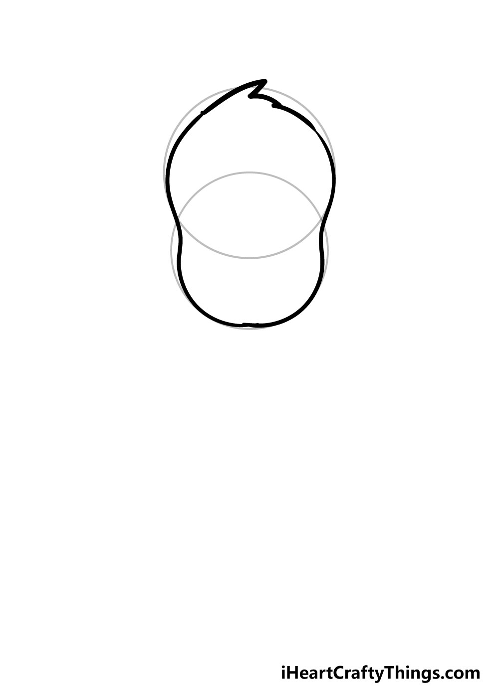 dog drawing step 1