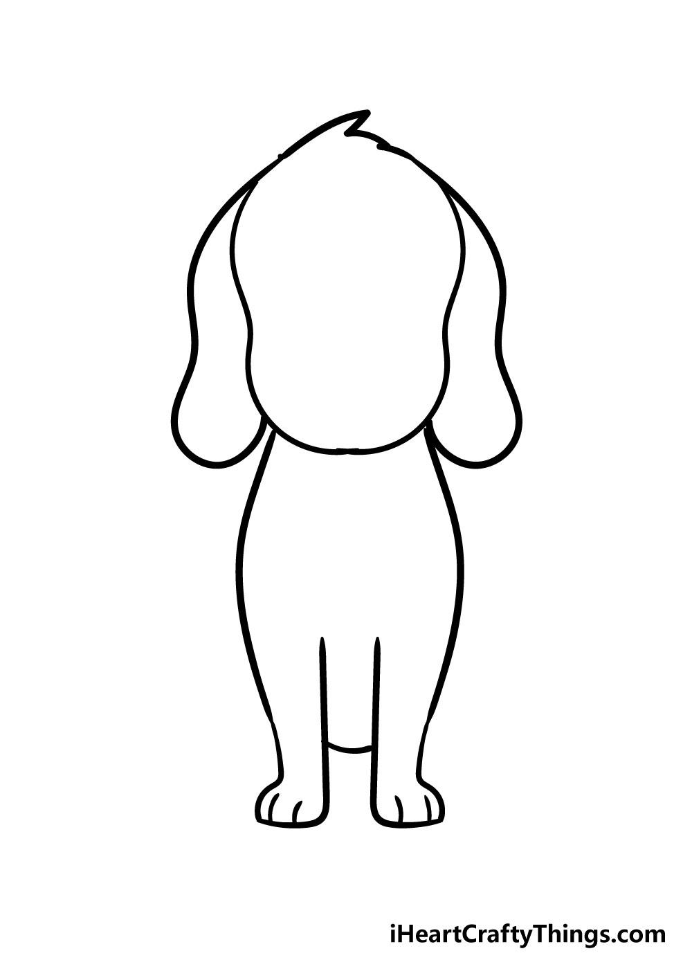dog drawing step 4