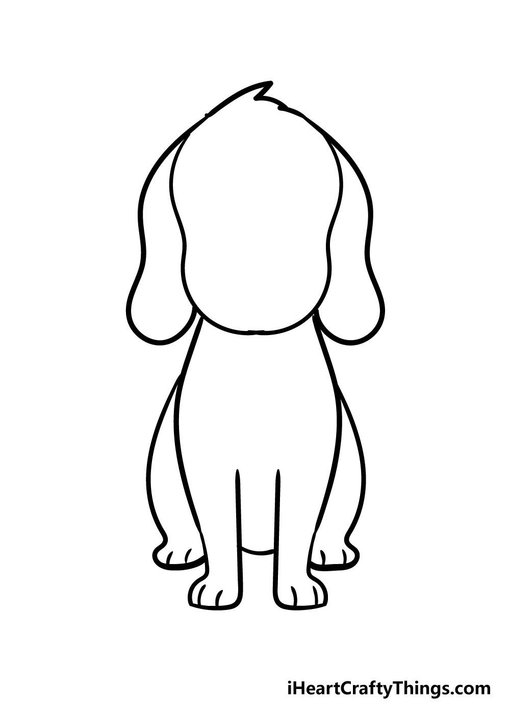 dog drawing step 5