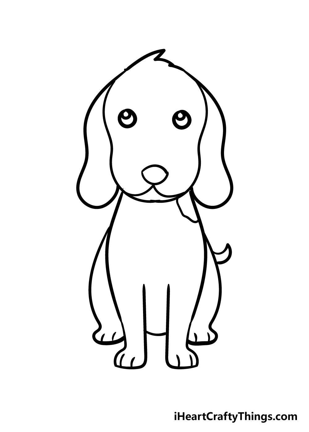 dog drawing step 6