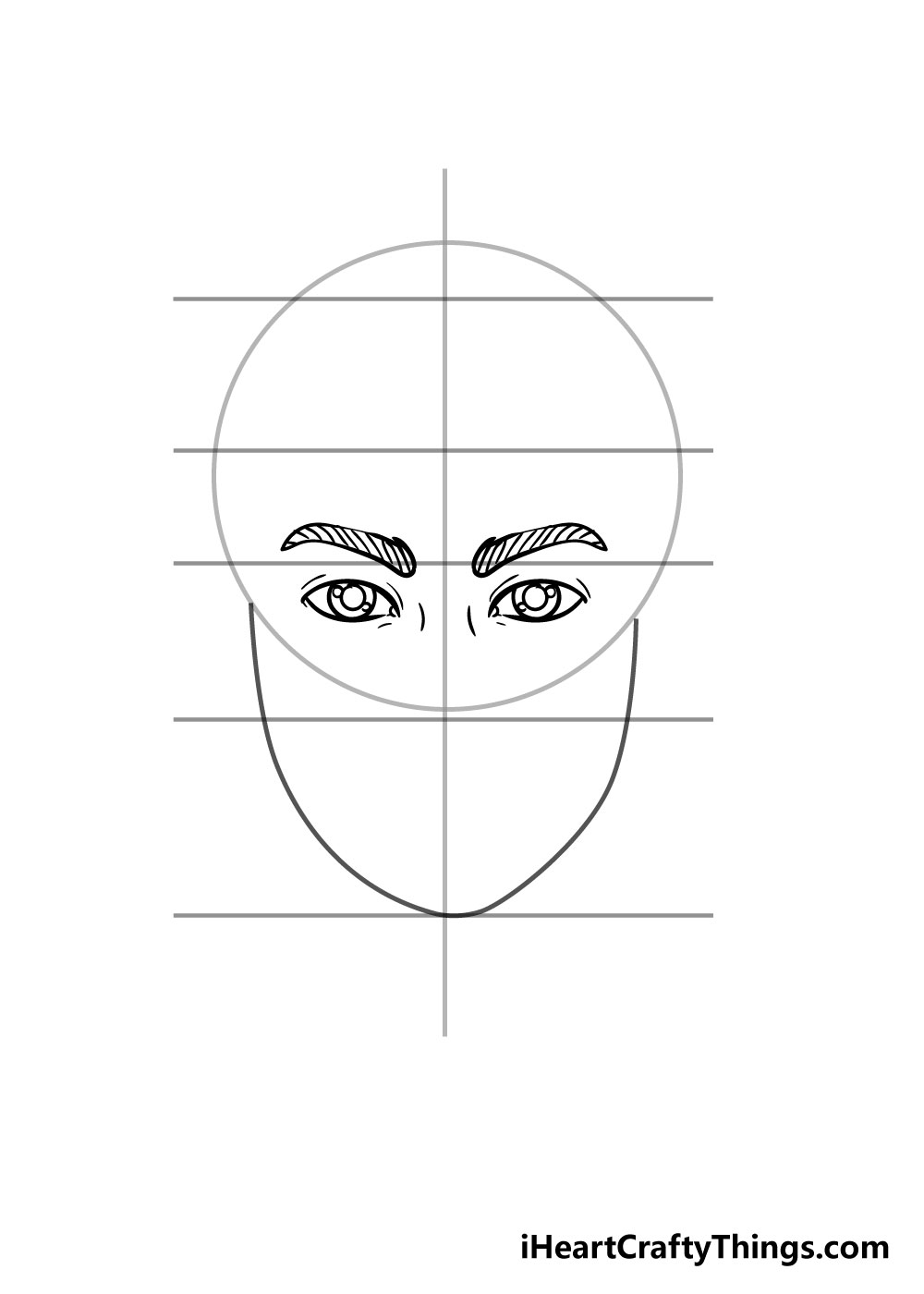 face drawing step 3