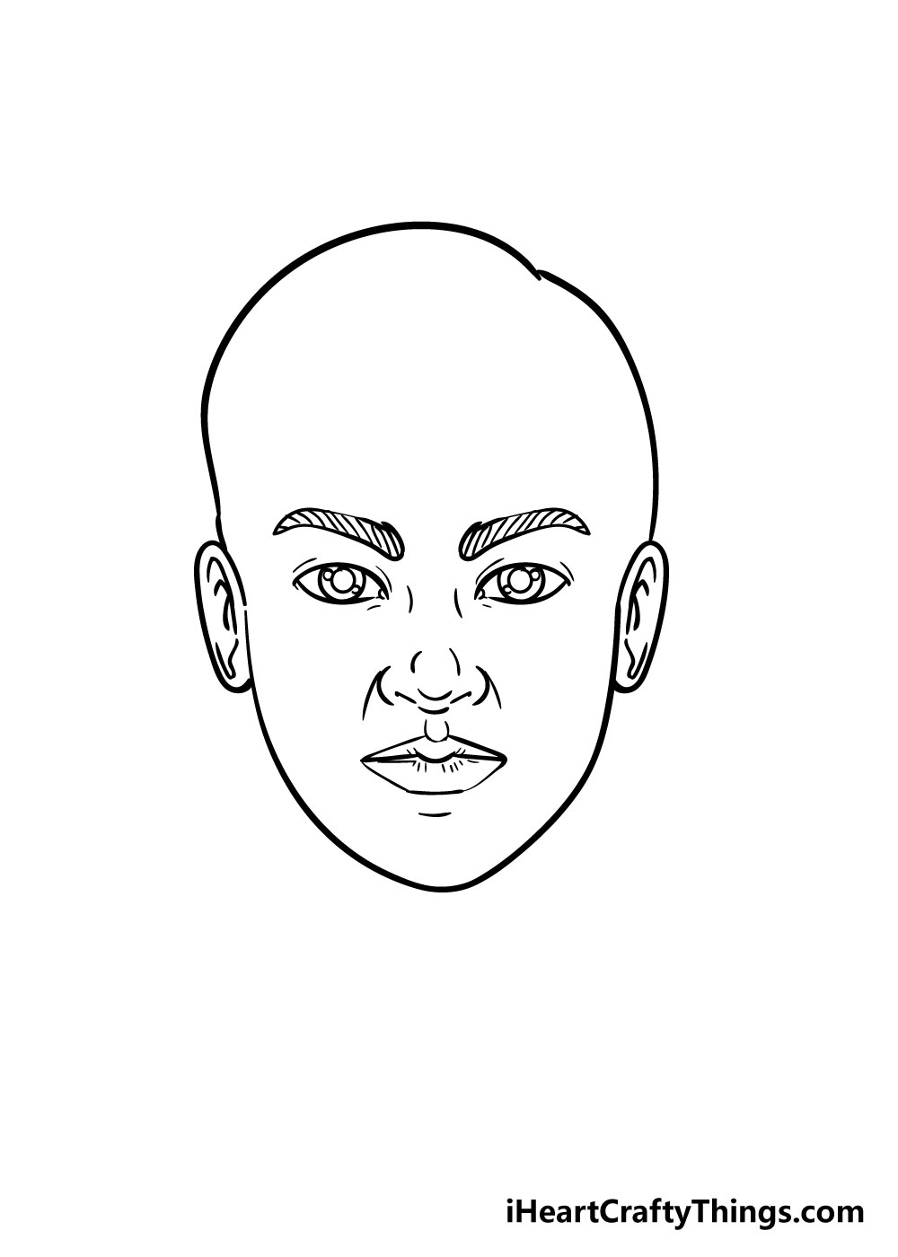 face drawing step 4
