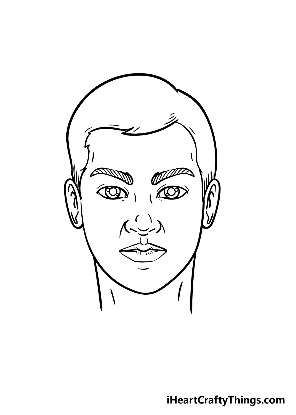 face drawing step 5