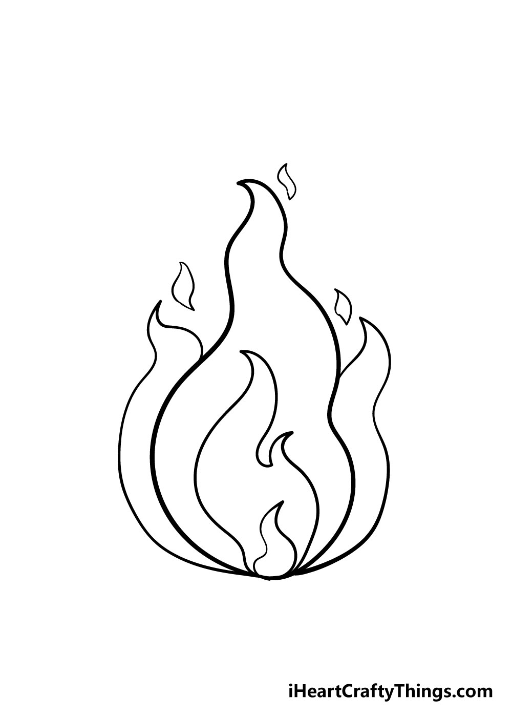 fire drawing step 5