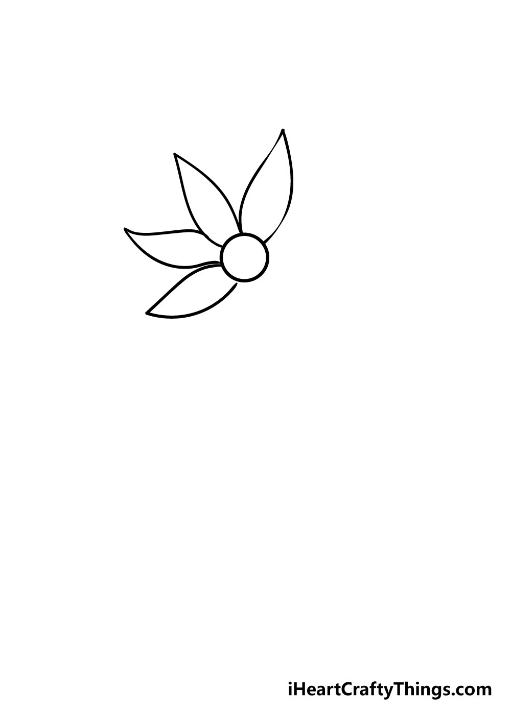 flower drawing step 3