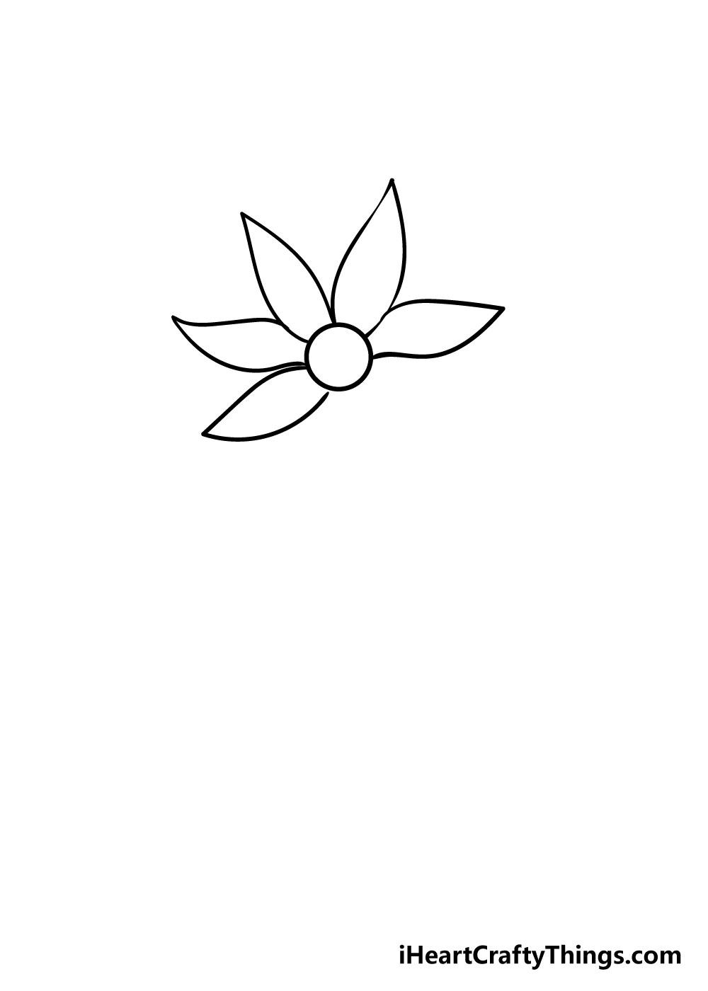 flower drawing step 4