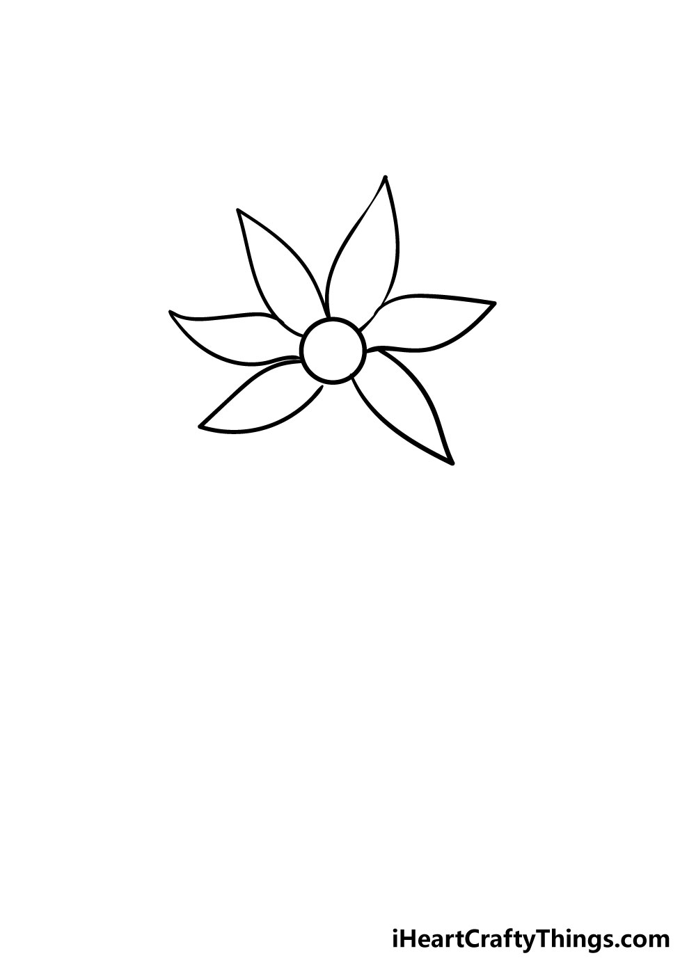 flower drawing step 5