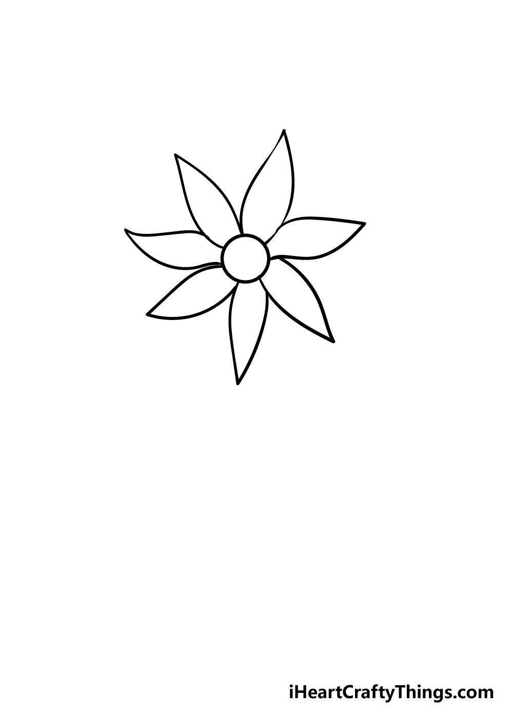 flower drawing step 6
