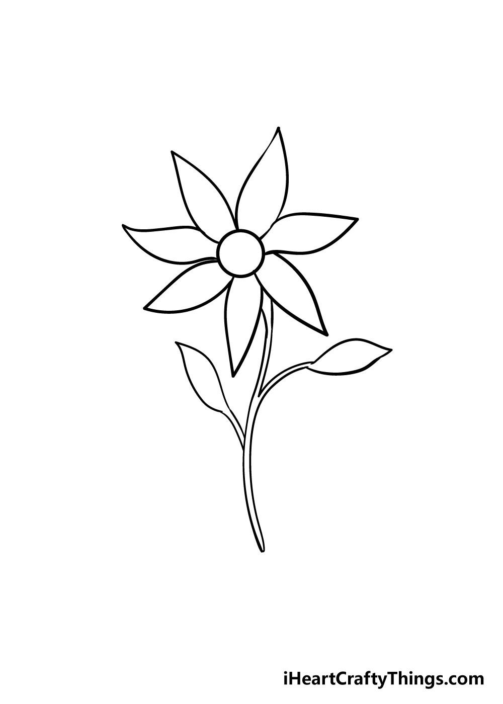 flower drawing step 7