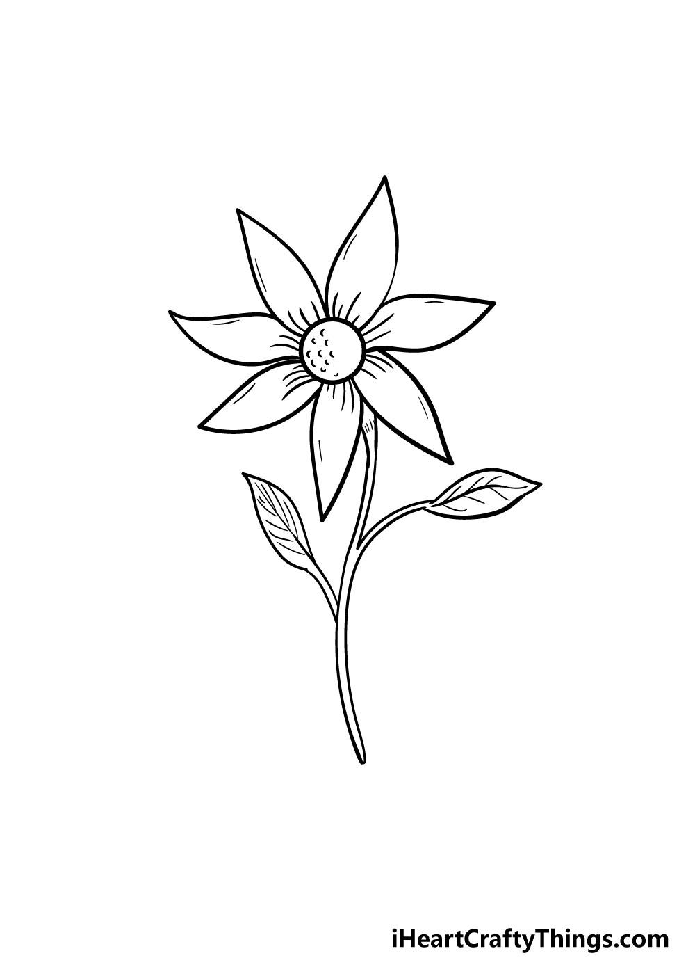 flower drawing step 8