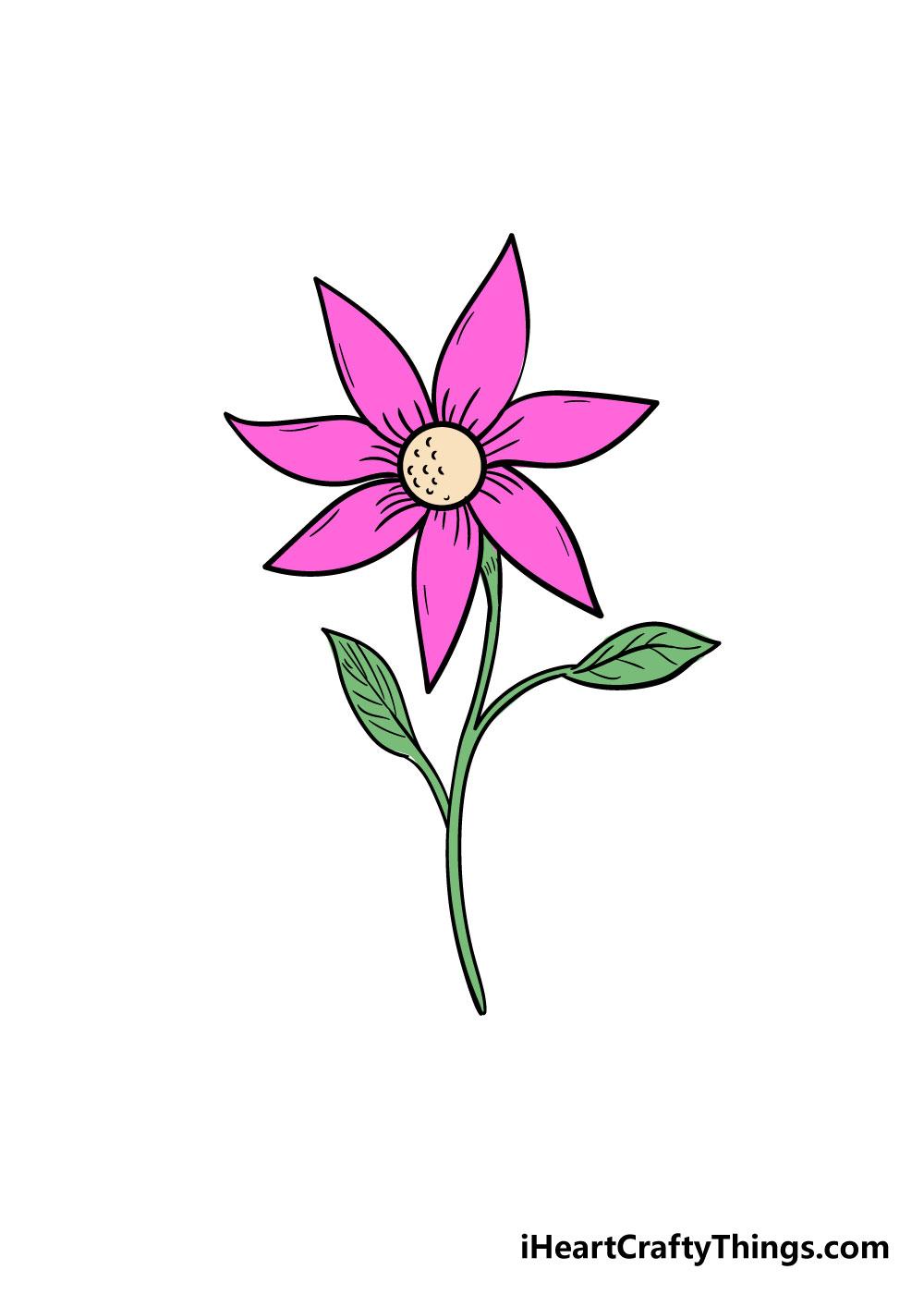 flower drawing step 9