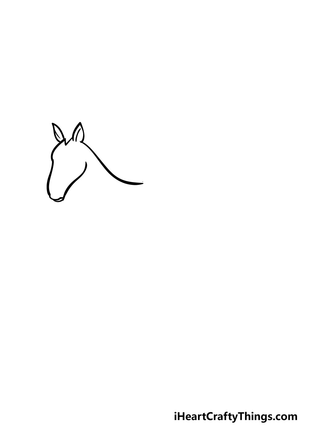 horse drawing step 1