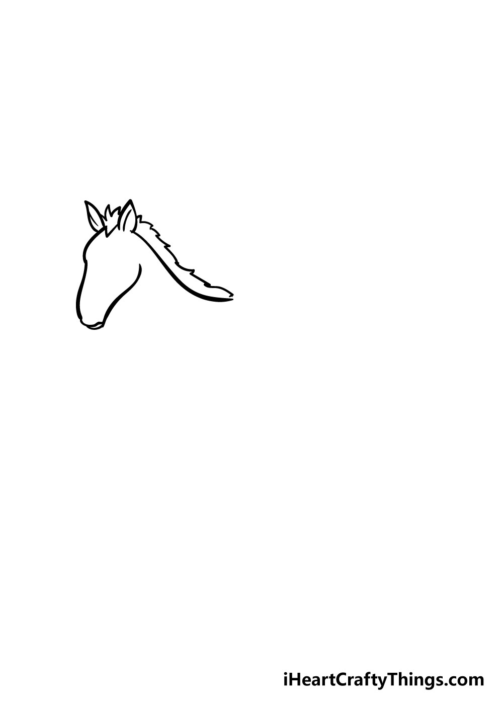 horse drawing step 3