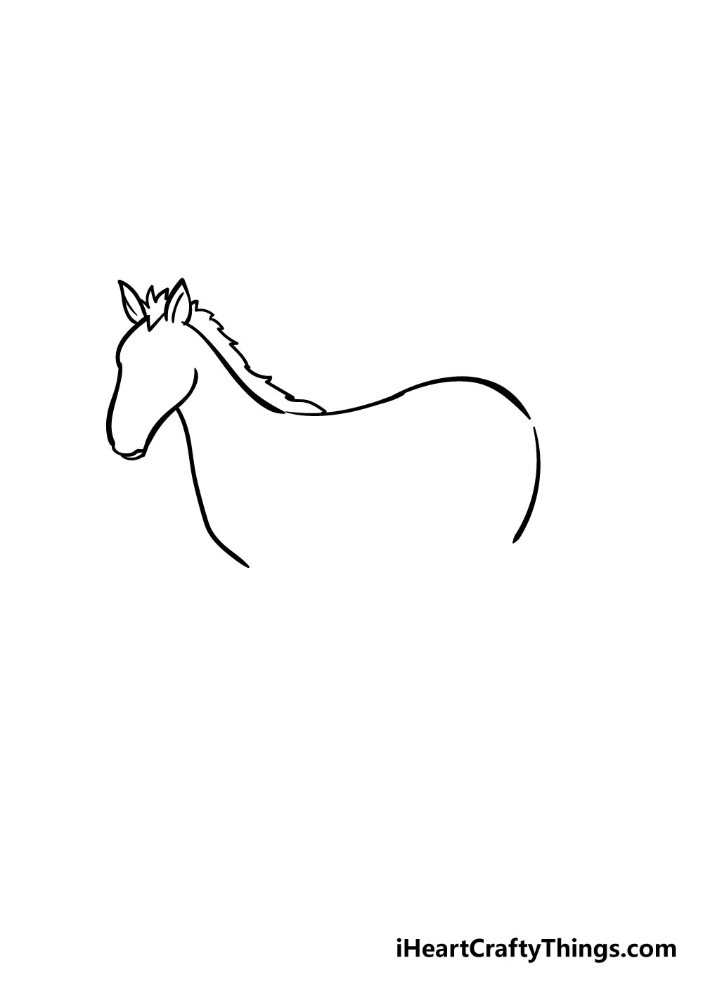 horse drawing step 4