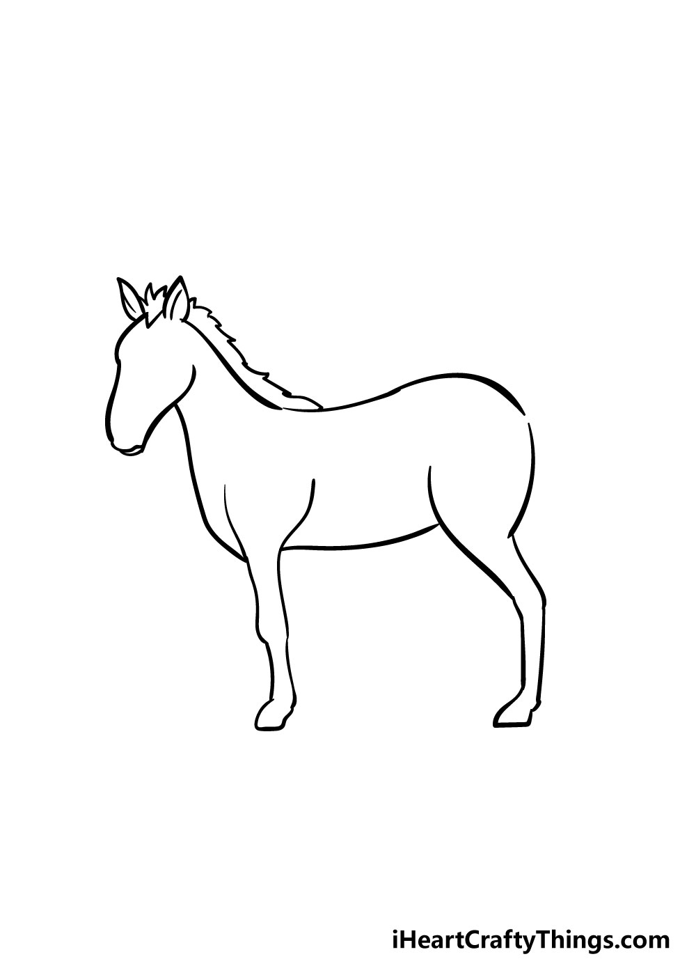 horse drawing step 5