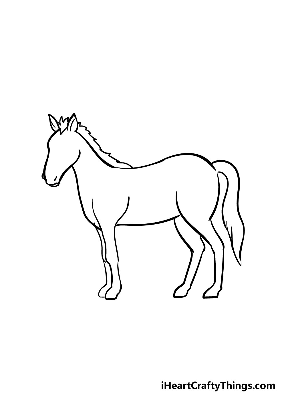 horse drawing step 6