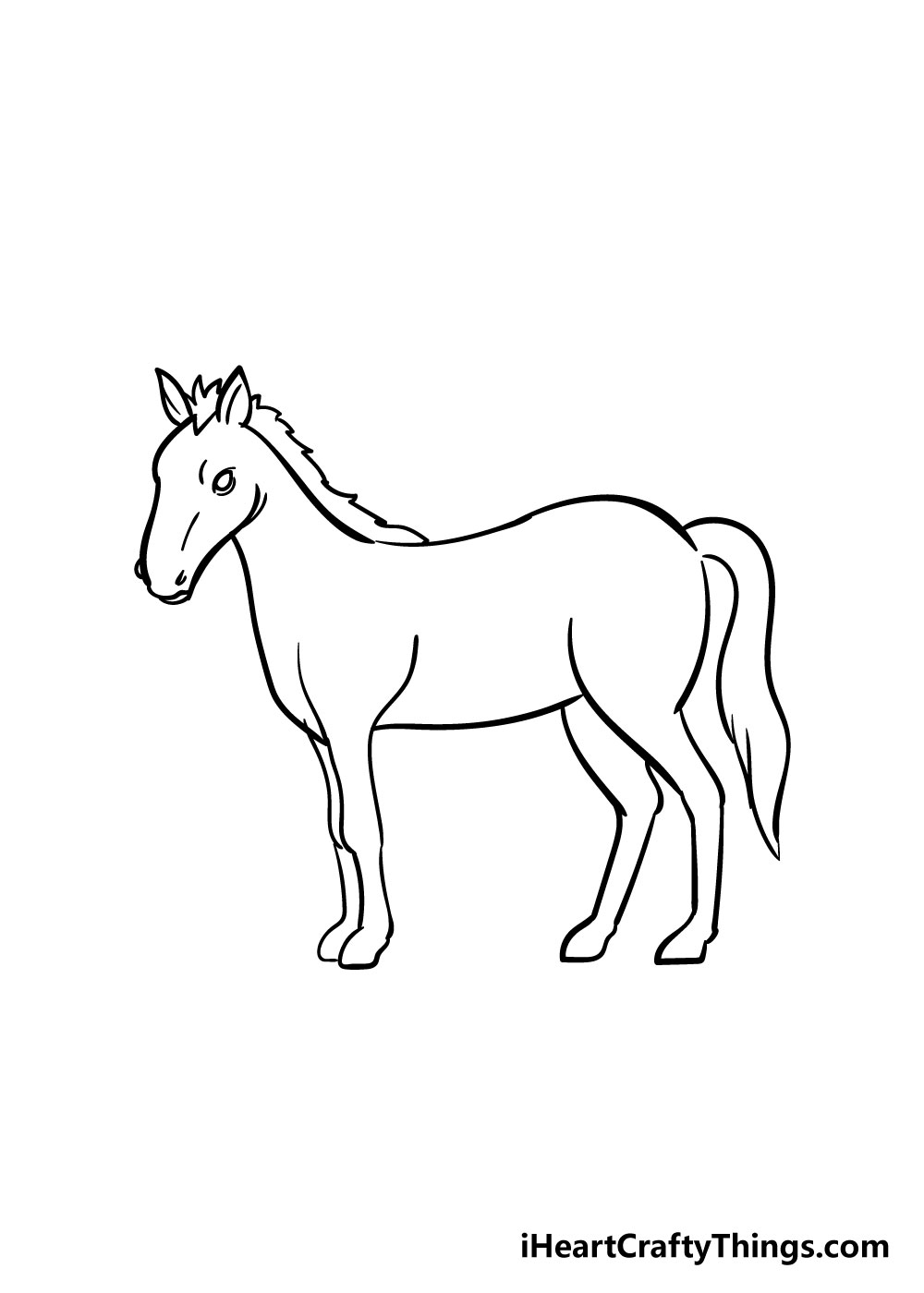 horse drawing step 7